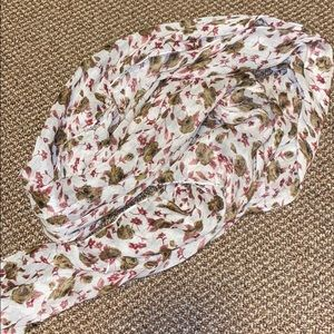 Fall Floral Pattern Scarf